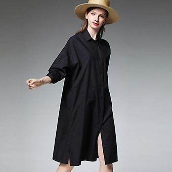 Oversized Split Long Blouse Plus Size