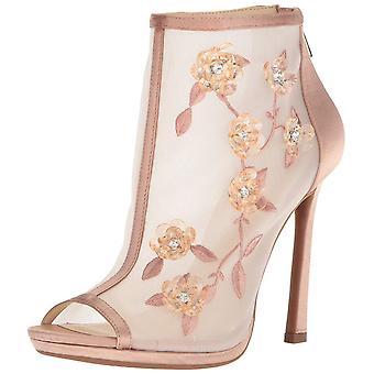 Jessica Simpson Womens Pedell Fabric Peep Toe Ankle Fashion Boots
