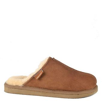 Shepherd of Sweden Karla Antique Cognac Suede Slipper