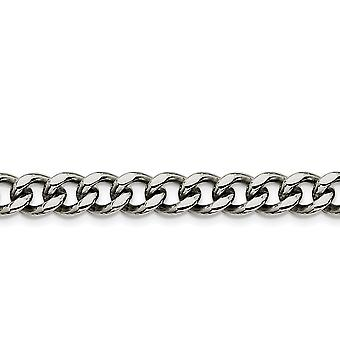 Stainless Steel Polished Fancy Lobster Closure 9.5mm Curb Chain Bracelet 8 Inch Jewelry Gifts for Women