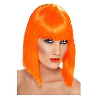 kvinners oransje glam parykk fancy kjole tilbehør