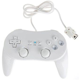 Classic pro controller for nintendo wii remote wireless joypad gamepad - white