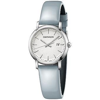 Calvin Klein K9H231V6 Women's Blue Leather Strap Wristwatch