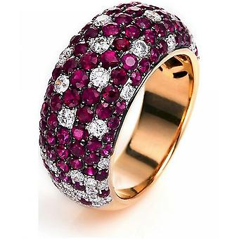 Gemstone Ring Diamonds 0.97ct. Ruby 2.87 ct. Size 54