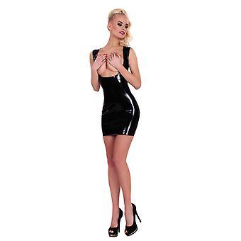 GP Datex Mini vestido com furos-preto