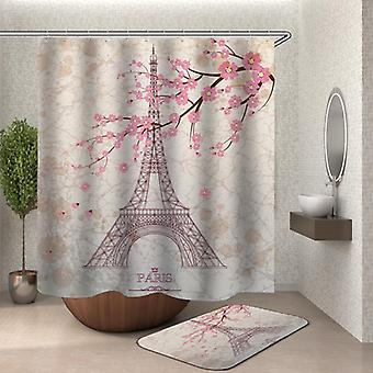 Eiffeltårnet Paris Kirsebærblomst bade gardin
