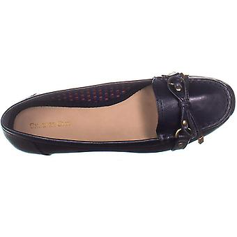Charter Club CC35 Betseyy platte instappers, Navy, 7 ons