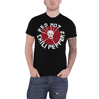 Red Hot Chili Peppers T Shirt Flea Skull Band Logo new Official Mens Black