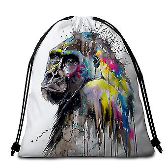 Art Painting Gorilla Beach Towel