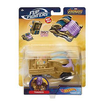 Horké kolečky Marvel Flip stíhačky Thanos Mstený automobil 11cm