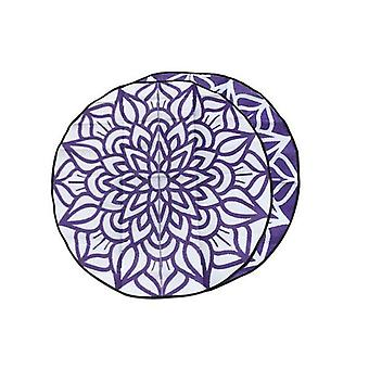 Ancestral Connectedness Mandala Design Recycled Mat Violet And White