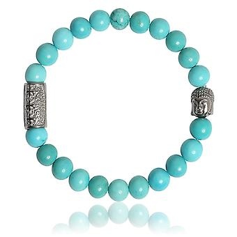 Lauren Steven Design ML072 Bracelet - Natural Stone Turquoise Men's Bracelet