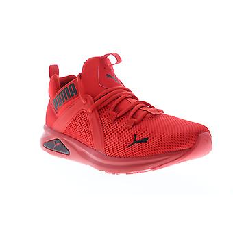 Puma Enzo 2  Mens Red Mesh Lace Up Athletic Running Shoes
