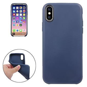 Für iPhone XS, X Fall, klassische Stil hochwertige glatte Schutzhülle, blau