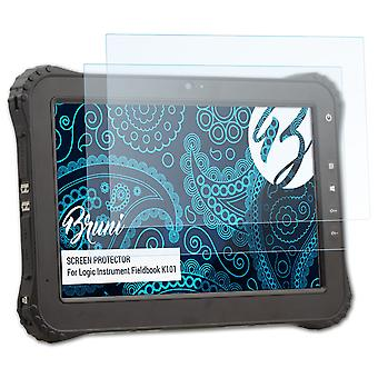 Bruni 2x Película Protectora compatible con Logic Instrument Fieldbook K101 Lámina Protectora