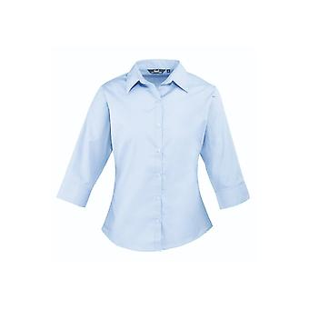 Premier ¾ sleeve poplin blouse pr305