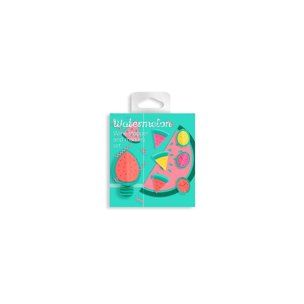 NOD Products 'Watermelon' Shaped Glass Markers & Stopper Set