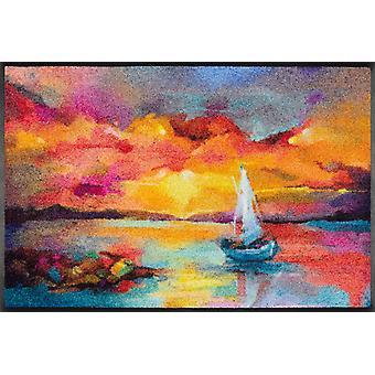 wash+dry Fußmatte Sunset Boat 50 x 75 cm Schmutzmatte