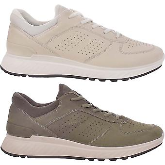 Ecco Mens Exostride Low Yak Leer Lace Up Ademende trainers