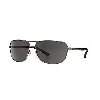 إمبوريو أرماني EA2033 3130/87 غونميتال المطاط / النظارات الشمسية الرمادية