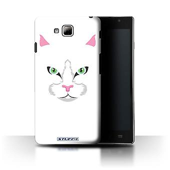 STUFF4 Case/Cover for LG Optimus L9 II/D605/White Cat/Animal Faces