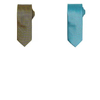 Premier Mens Puppy Tooth Formal Work Tie (Pack of 2)