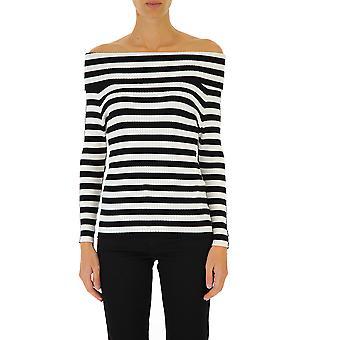 Twin-set 192tp309103968 Women's White/black Viscose Sweater