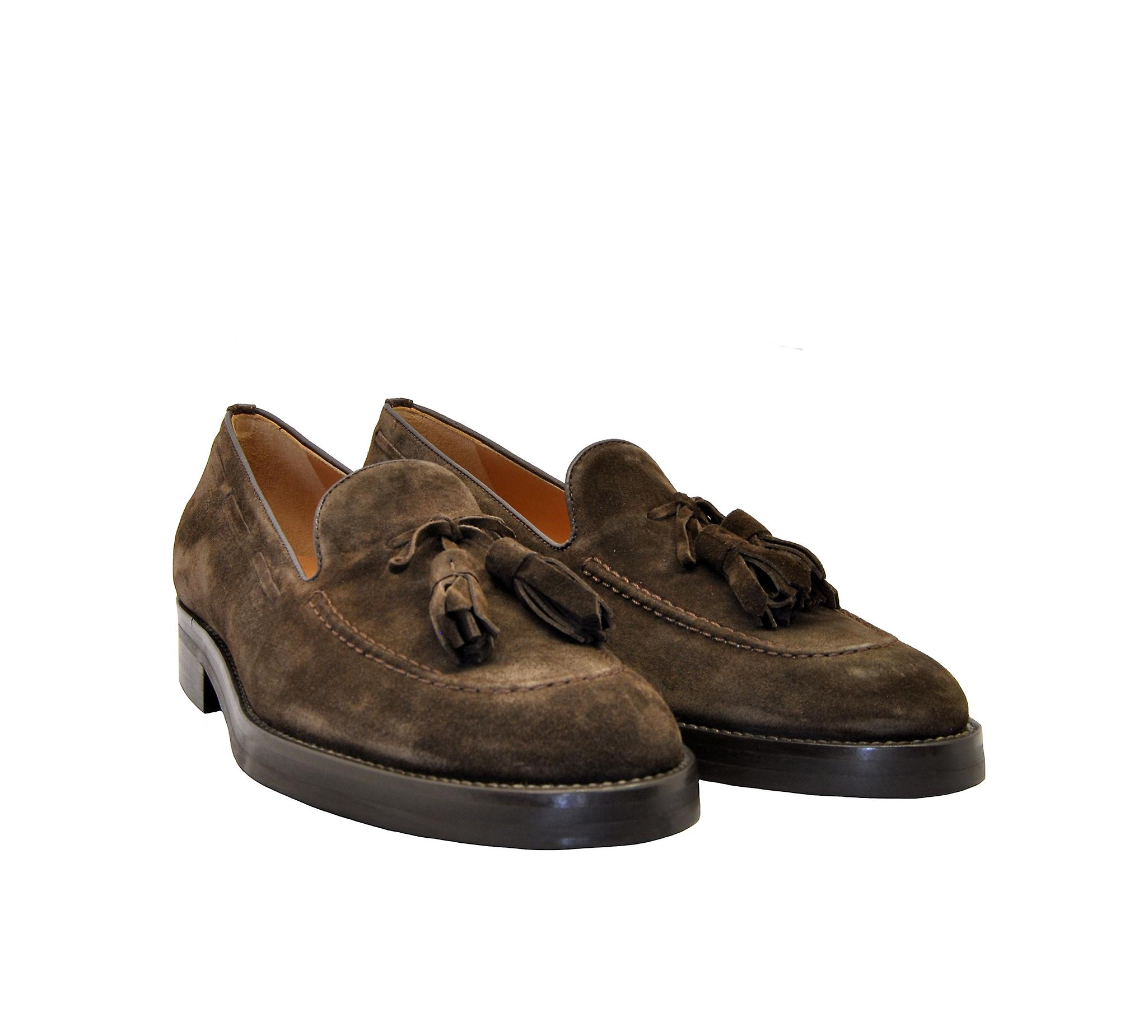 Edhen Marais Men-apos;s Brown Suede Loafers