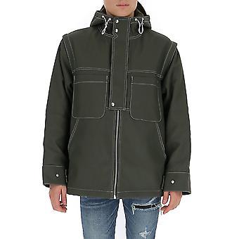 Jacquemus 196co0319601580 Men's Green Nylon Outerwear Jacket