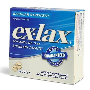 Ex-lax stimulant laxative pills, regular strength, 8 ea