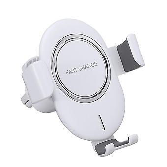 10W qi trådlös laddare snabb laddning luftventil bil telefonhållare för 4,0-6,5 tums smart telefon