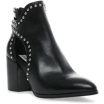 Steve Madden Womens Justice Zip Up Cut Out Ankle Boots