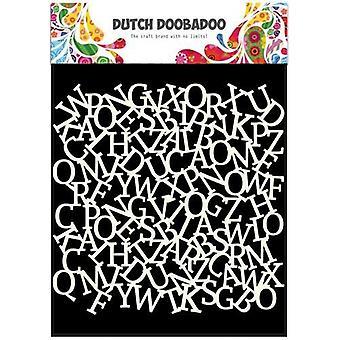 Sfondo dell'alfabeto dello stencil Olandese Doobadoo Dutch Mask Art 15x15cm 470.715.603