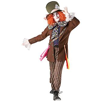 Alice in Wonderland Adults Unisex Mad Hatter Costume