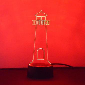 Phare de couleur acrylique LED lumière changeante