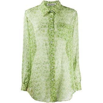 Acne Studios Ac0209bn1 Women's Green Cotton Shirt