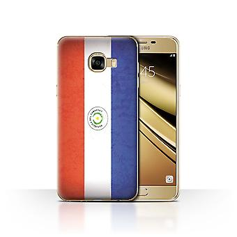 STUFF4 Case/Cover for Samsung Galaxy C5/Paraguay/Paraguayan/Americas Flag