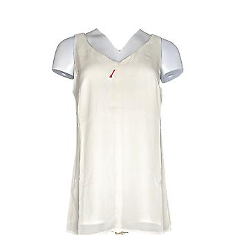 G.I.L.I. got it love it Women's Top Sleeveless V-Neck Tunic Beige A264749