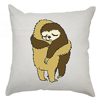 Sloth Cushion Cover 40cm x 40cm - Sloths Hugging