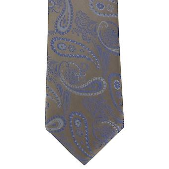 Michelsons of London Delicate Paisley Silk Tie - Brown