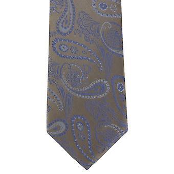 Michelsons de Londres gravata de seda delicada Paisley - Brown