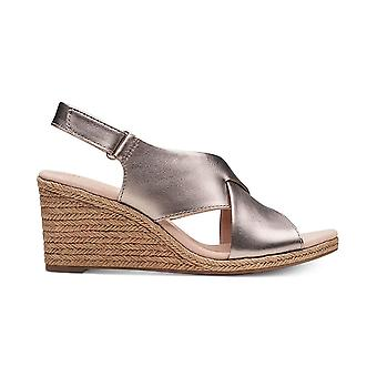 Clarks Womens Lafley Alaine Leather Peep Toe Casual Slingback Sandals