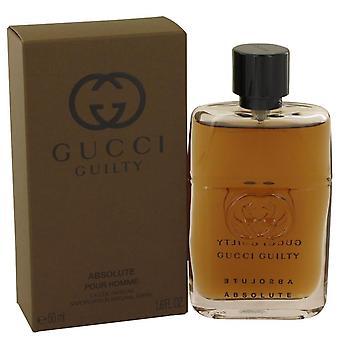Gucci skyldig absolutt Eau De Parfum Spray av Gucci 1.6 oz Eau De Parfum Spray