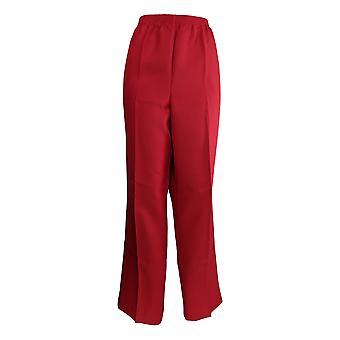 Alfred Dunner Women's Plus Pants Elastic Waistband Straight Leg Red
