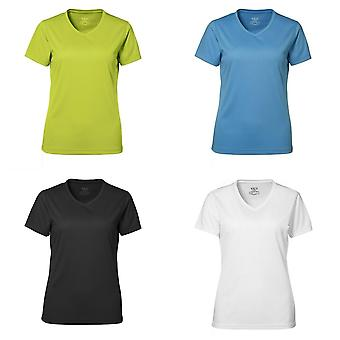 ID Womens/Ladies Yes Active V-Neck Fitted Short Sleeve T-Shirt