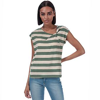 Women's Vero Moda Ashlee Gestreept Jersey T-shirt in Groen