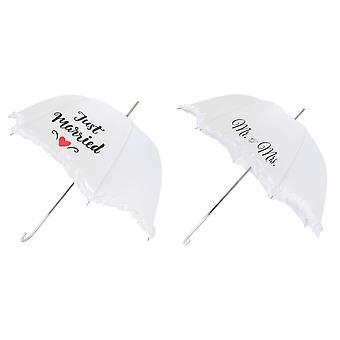 X-brella Scallop Frilled Wedding Umbrella