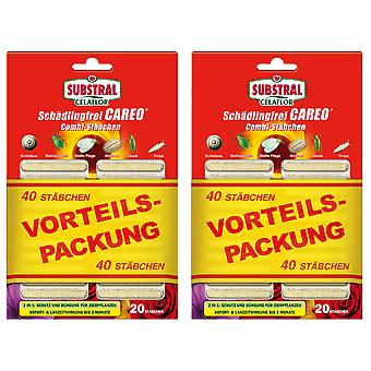 Sparset: 2 x SUBSTRAL® Celaflor® Pest-free Careo® Combi sticks, 40 pieces