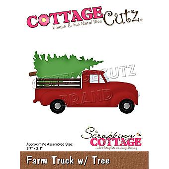 Scrapping Cottage Farm Truck with Tree