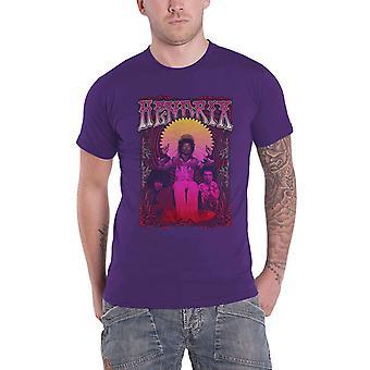 Jimi Hendrix T Shirt Karl Ferris Wheel Band Logo new Official Mens Purple